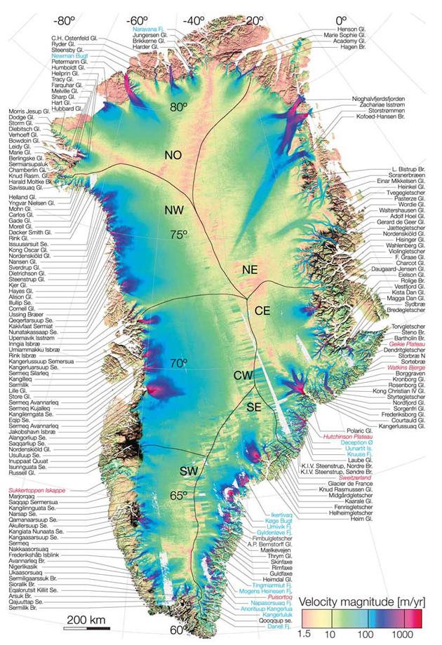 Nyt Kort Over Indlandsisen Greenlandtoday