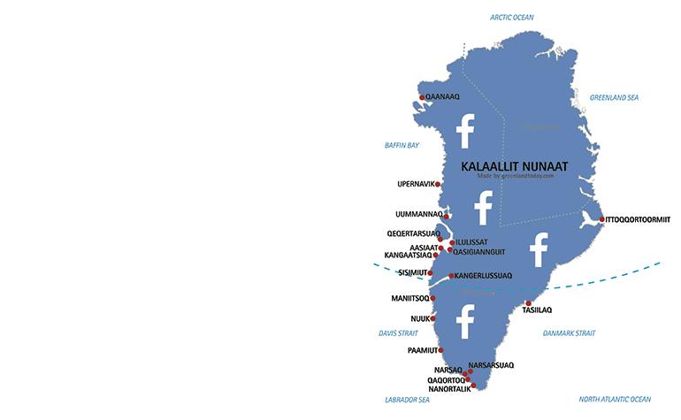 Facebook samler Grønland